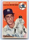 1954 TOPPS BASEBALL #13 BILLY MARTIN, NEW YORK YANKEES, 053115