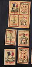 5 Anciennes  étiquettes  allumettes  Belgique  BN6015 Guerre Rieme 2