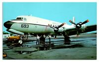Douglas C-118 Liftmaster, Naval Air Station, Glenview, IL Postcard *6J8