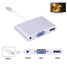 I50 USB 3.1 tipo C a HDMI VGA adaptador de audio convertidor de video para MacBook 1080p