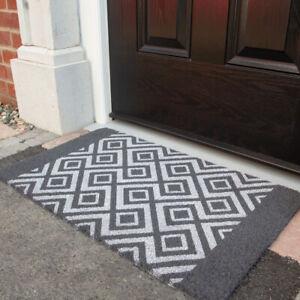 Grey Diamond Coir Door Mat | Modern Outdoor Mats | High Quality Mats 45cm x 75cm