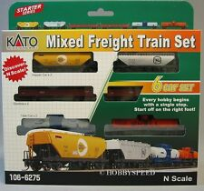 KATO N SCALE MIXED FREIGHT SET 6 car set tanker gondola hopper train 106-6275