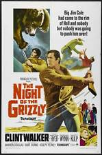 THE NIGHT OF THE GRIZZLY Movie POSTER 27x40 Clint Walker Martha Hyer