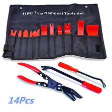 14Pcs Car Door Upholstery Dash Panel Trim Tool Kit +Clip Pliers+Fastener Remover