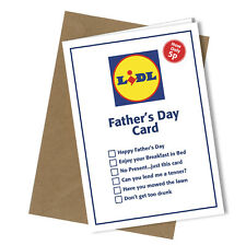 #248 Greetings Card LIDL VALUE Comedy Rude Funny Humour Fathers Day Card