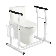 Medical Free Standing Toilet Rail Safety Assist Grab Bar Padded Armrest Support