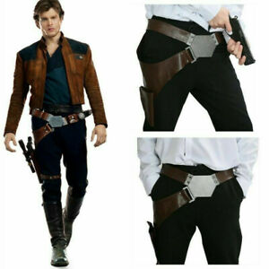 Star Wars Han Solo Belt with Holster PU Props for Adult Cosplay Costume Accessor