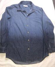 Forever 21 Men's Denim Button Up Shirt Size Men; XS