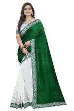 Designer Indian Bollywood Saree, Party Wear Green Sari, Saree with Blouse