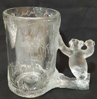 VTG COCA-COLA COLLECTABLE DRINKING GLASS Coca Cola Glass With Polar Bear Handle