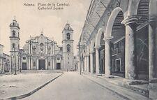 B79160 plaza de la catedral  havana cuba front/back image