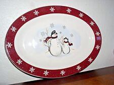 Royal Seasons Snowman Stoneware Serving/Dinner Plate (14 inch)
