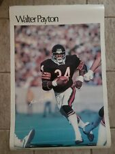 Vintage RARE 1981 Sports Illustrated RB WALTER PAYTON Poster Chicago Bears NFL
