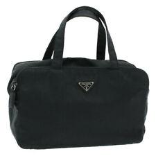 PRADA Nylon Hand Bag Black Auth cr611