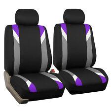 Premium Modernistic Purple Black Auto Car SUV Bucket Seat Covers Air Bag Safe