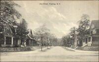Flushing Queens Long Island NY Ash Street c1910 Postcard