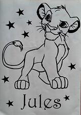 Sticker le roi lion, simba personnalisable