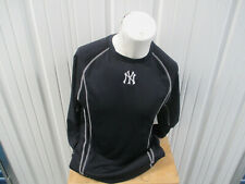 MAJESTIC MLB NEW YORK YANKEES MEDIUM SEWN LONG SLEEVE WARM-UP BLUE SHIRT