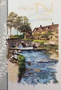 DAD TRADITIONAL COUNTRY SCENE BIRTHDAY CARD