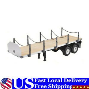 Hercules 2Axle RC Tractor Flatbed Semi Trailer Truck 1/14 for DIY TAMIYA US