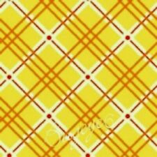 Mary Engelbreit Fabric Yellow Plaid Scottie Scotty Series Quilt Diy Craft - Bty