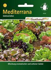 Salatmischung 'Mediterrana', Saatband, Salat Samen, 42035