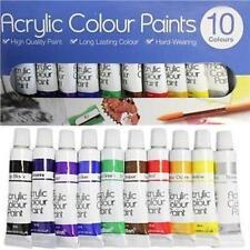 ACRYLIC PAINT SET COLOUR PAINTS ARTIST ART AND CRAFT 10X 6ml ACRYLIC COLOUR