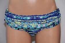 NWT Jessica Simpson Swimsuit Bikini Skirted Bottom Sz L Blue Razz