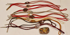 Vintage Lot Of 10 Vintage Bolo Ties + 1 belt buckle Agate Stone