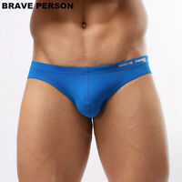 new man Sexy Underwear Briefs Brave Person Nylon swimwear Bikini M L XL 13 color