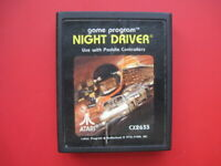 Night Driver Atari 2600 Game *Cleaned & Tested*