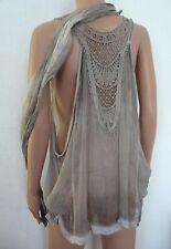 tunique en Soie Taille M L XL 38 40 42 44 46 48 Haut & foulard bohème Femme