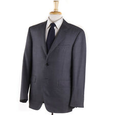 NWT $4195 OXXFORD 'Capitol' Solid Medium Gray Super 140s Wool Suit 48 L