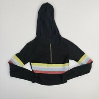 Fashion Nova Women's Striped Crop Top Long Sleeve Hooded Jacket Ladies Small