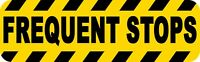 10in x 3in Caution Frequent Stops Sticker Car Truck Vehicle Bumper Decal
