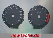 BMW R1200RT Kmh graue Tachoscheiben Tacho Gauge dial plates disc Ziffernblätter