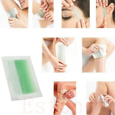 10Side Leg Body Face Hair Removal Depilatory Wax Strips Papers Waxing Nonwoven