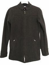 Ibex Womens Zip Coat Jacket 100% Wool Brown Size Xs