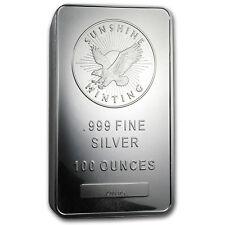 100 oz Silver Bar - Sunshine (MintMark SI) - SKU #77282