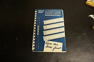 AMSTRAD PCW8256 Personal Word Processor Start Up Guide