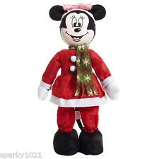 """Disney Minnie Mouse Christmas Decoration Standing Doll 22"""" Tall New"""