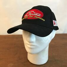NSRA Chrome Specialty Car Insurance Black Cotton Strapback Baseball Cap