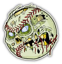 Zombie Baseball Ball Face Car Bumper Sticker Decal 5'' x 5''