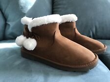 size 6.5 Arizona Chestnut Womens winter Bootie Fabric, Cute Winter Boots