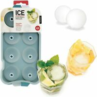 ICE BALL MOULD - Flexible Silicon Tray Makes 8 Ice Balls 4.5cm Drink Party **NEW