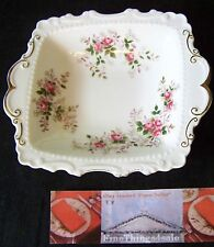 NICE ROYAL ALBERT CHINA LAVENDAR ROSE  PATTERN - RARE BON BON HANDLED DISH BOWL