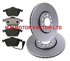 VW BORA 1.9 TDi PD 2.5 V5 150 BHP (99-05) FRONT VENTED BRAKE DISCS AND PADS SET