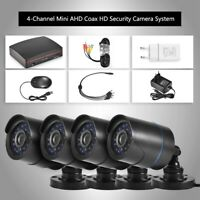 720P 4CH CCTV Security Camera System HD DVR AHD Surveillance Outdoor Waterproof