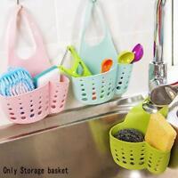 New Hanging Home Kitchen Sponge Drain Bag Basket Bath Storage Tools Sink Holder