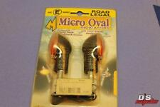 MOTRAX MICRO OVAL INDICATORS CARBON LOOK CLEAR LENS PART# OI4